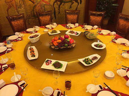 Dinner, China, Table, Lazy Susan, Meal, Chinese