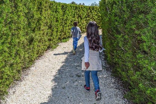 Kids, Playing, Maze, Kids Playing, Education, Leisure