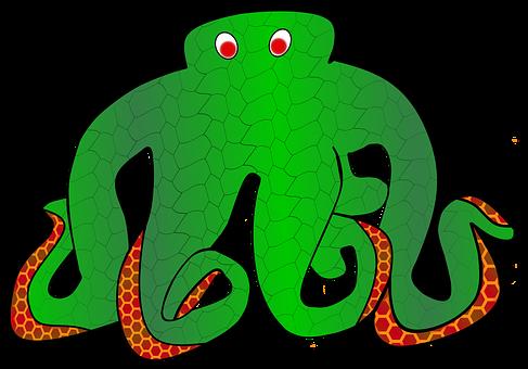 Octopus, Monster, Deep Sea, Giant Octopus, Carousel