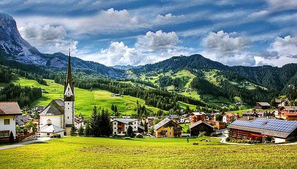 St Leonhard, Dolomites, Mountains, South Tyrol, Alpine