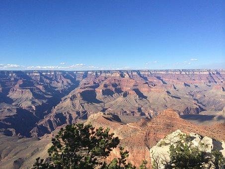 Grand Canyon, Desert, West, Landscape, Park, Canyon