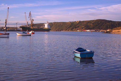 Barca, Boat, Sail, River, Is, Low Tide, Port, Habor