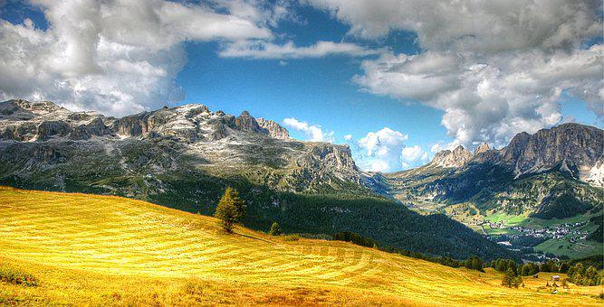 Passo Gardena, Dolomites, Mountains, South Tyrol