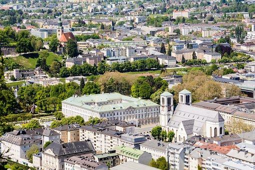 Salzburg, Mirabell Palace, St Andrew's Church, Neustadt