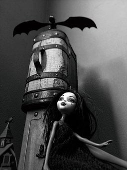 Toys, Doll, Dragon, Satire, Monster High, Gothic