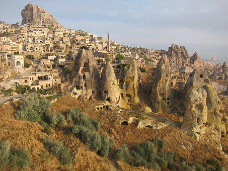 Turkey, Landscape, Exotic, Cappadocia, Fairy Chimneys