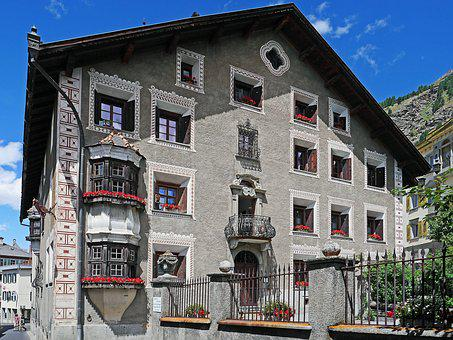 Switzerland, Engadin, Burgher's House, Typical