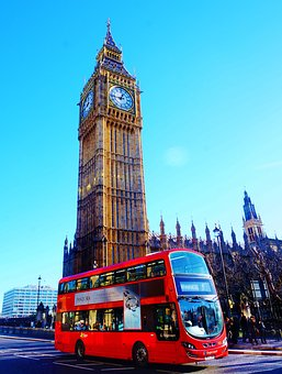 Uk, London, City, Big Ben, Red, Tower, Building, Sky