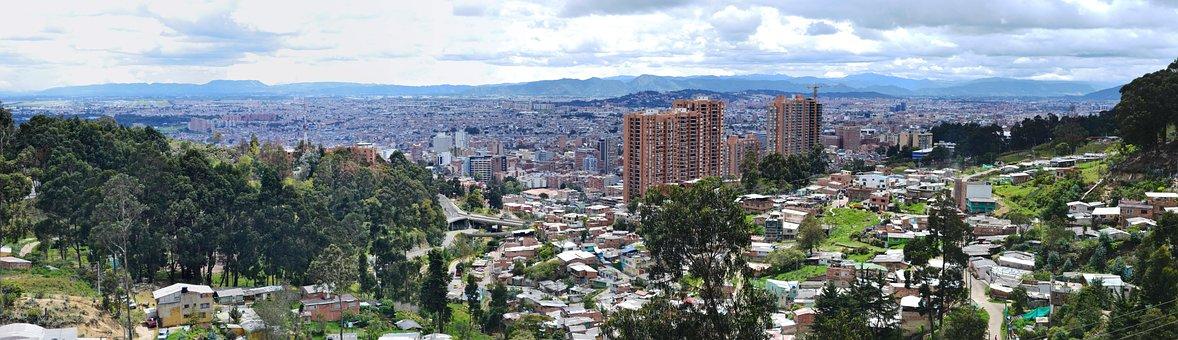 Bogotá, Bogota, Urban Landscape, View, Mountain