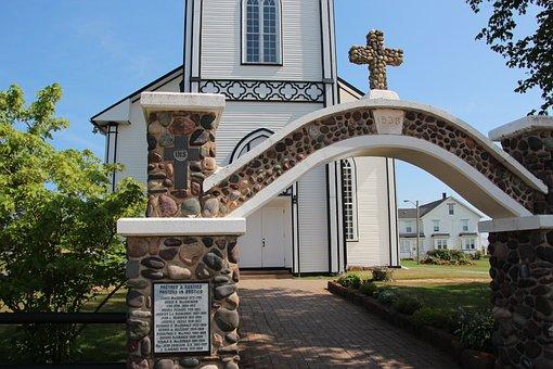 Church, Cross, Archway, God, Religion, Faith, Pray