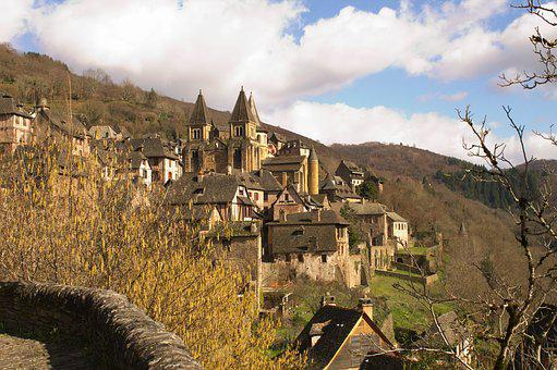 Conques, Church, Aveyron, Pilgrimage, Abbey