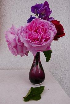 Flowers, Bouquet, Roses, Garden, Nature, Flowering