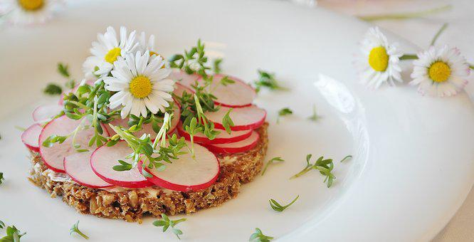 Radishes, Bread, Bread And Butter, Cress