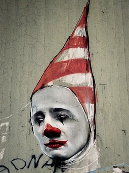 Graffiti, Clown, Face, Carnival, Mask, Head, Decoration