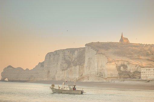Beach, Coast, Cliffs, Dover, Beachy Head, Uk, Britain