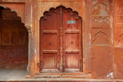 India, Travel, Asia, Architecture, Tourism, Door, Wall
