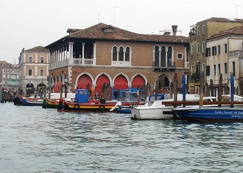Venice, Great Channel, Italy, Market