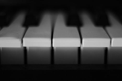 Piano, Keys, White, Music, Strum, Piano Keyboard