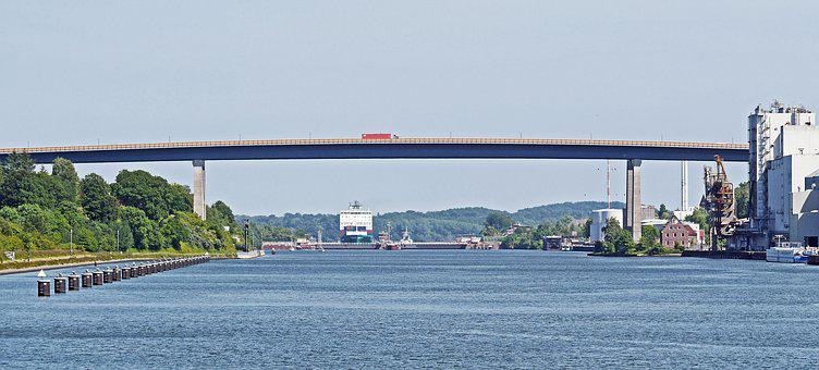 Kiel, Holtenau, North America, High Sea Lock, Transfer