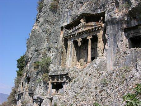 Fethiye, Lycia, Rock, Architecture, Temple, Grave
