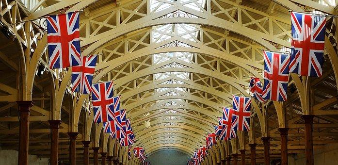 Flags, Roof, Market, Union Flag, Union Jack, British