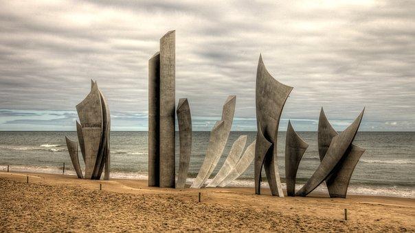 Omaha Beach, Monument Des Braves, St Laurent-sur-mer