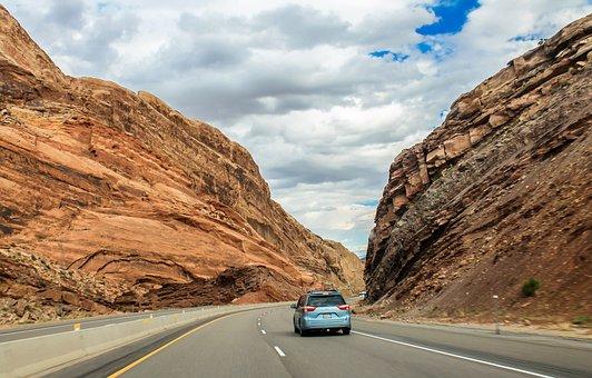 Utah, Mountains, Road, Canyon, Nature, Landscape