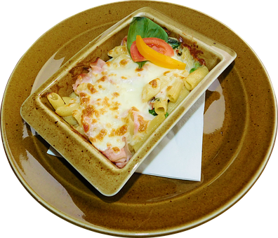 Penne, Italian, Pasta, Food, Baked, Plate, Cheese