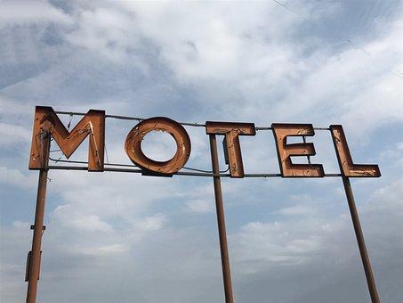 Sign, Motel, Retro, Neon, Vintage, Light, Billboard