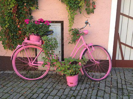 Pink, Bike, Bicycle, Sport, Girl, Cyclist, Leisure