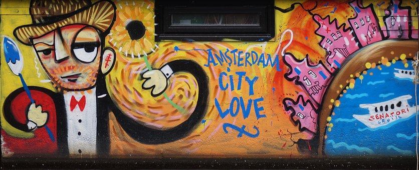 Amsterdam, Graffiti, Art, Holland, Vandalism, Spray