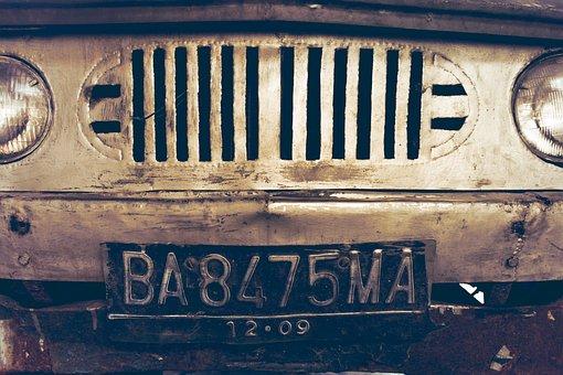 Old Car, Vintage, Retro, Classic Car, License Plate