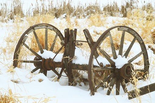 Wagon Wheels, Rustic, Antique, Wooden, Wood, Vintage