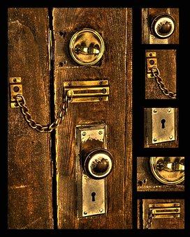 Latch, Door, Keyhole, Wooden Door, Lock, Wooden, Old