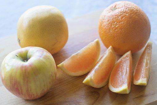 Fruit, Still Life, Apple, Orange, Grapefruit, Food