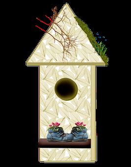 Bird, Avian, House, Home, Birdhouse, Decorative