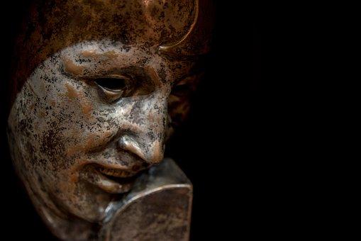 Sculpture, Bronze, Face, Sgu, Statue, Stone Carving