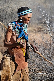 Botswana, Indigenous Culture, Buschman, San, Woman