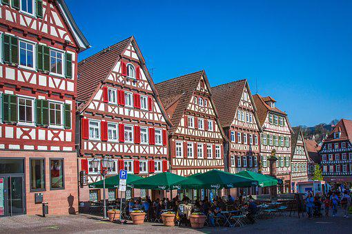 Calw, Old Town, Truss, Middle Ages, Marketplace
