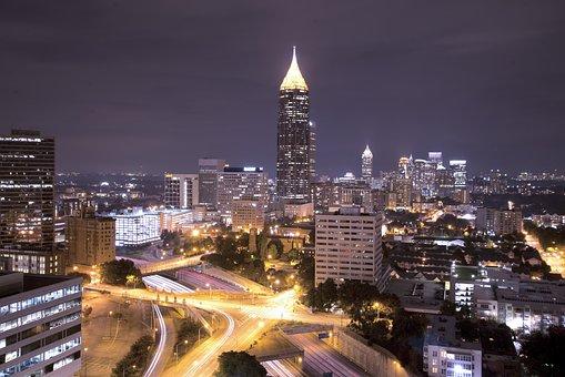 Atlanta, Georgia, City, America, Cityscape, Skyline