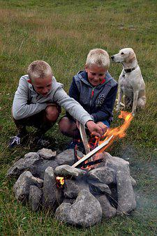 Campfire, Adventure, Fire, Wood, Flame, Burn, Embers