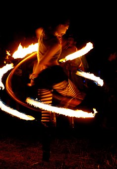 Fire, Fire Dancer, Tights, Dark, Speed, Performance