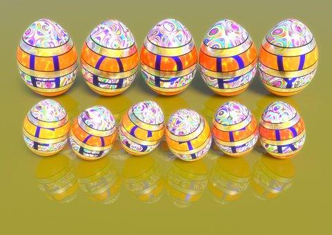 Easter Eggs, Happy Easter, Påskhälsning, Easter Cards
