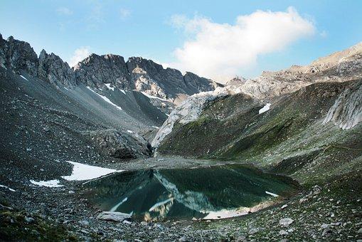 Mountains, Alpine, Lake, Mirroring, Mount Long Shank