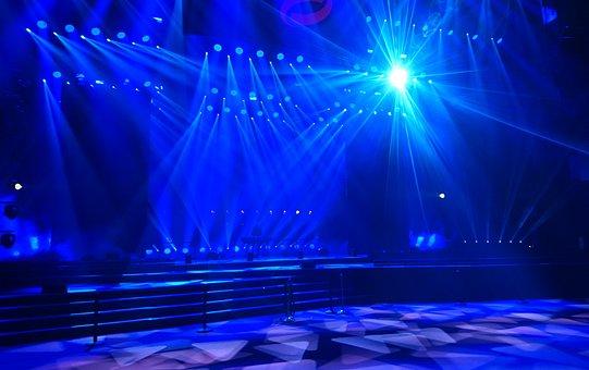 Lightshow, Live, Stage, Show, Festival, Rock Star
