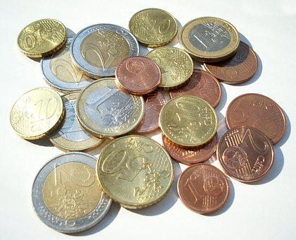 Money, Coins, Loose Change, Euro, Cent, Specie
