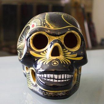 Skulls, Campeche, Dia De Los Muertos, Mexico