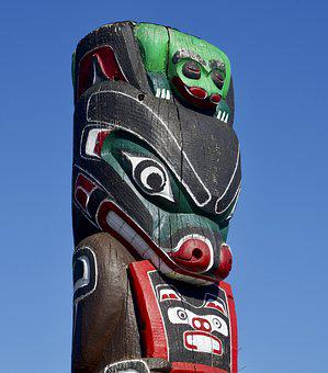 Totem Pole, Indigenous, Art, Native, Tribal, American
