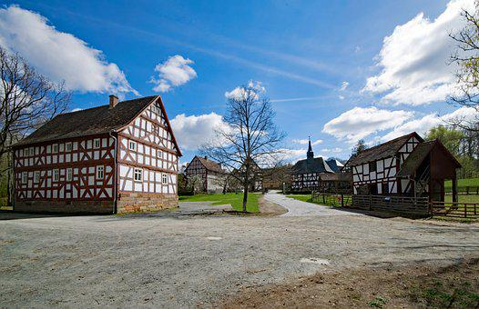 Neu-anspach, Hesse, Germany, Hesse Park, Old Town