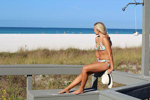 Pretty Girl, Beach, Vacation, Sea, Ocean Summer